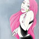pink papillon